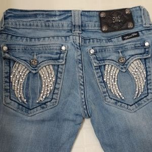 Miss Me Embellished Angel Wing Bootcut Jeans